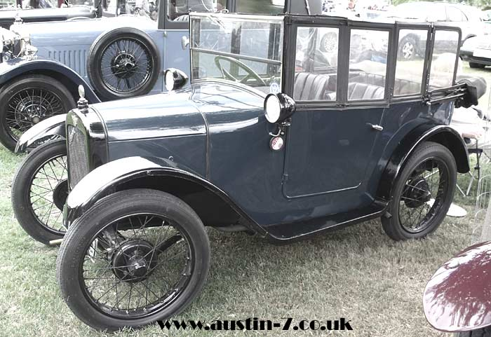 Photo of the Austin 7 tourer, or 'chummy'